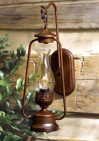 lampa ścienna jupiter - kinkiet rustykalny