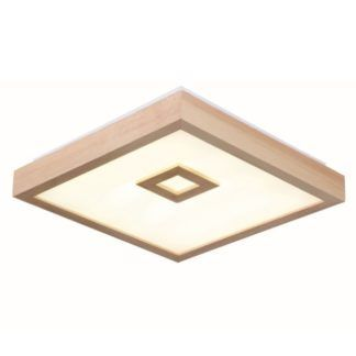 Drewniany plafon Lola - kwadratowy klosz