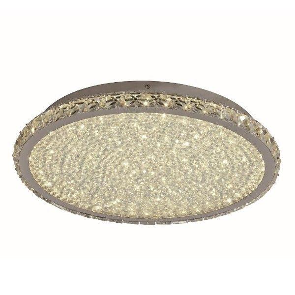 okrągły kryształowy plafon