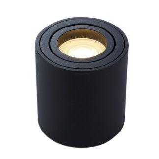 Czarny plafon Mini - metalowa tuba, nowoczesny