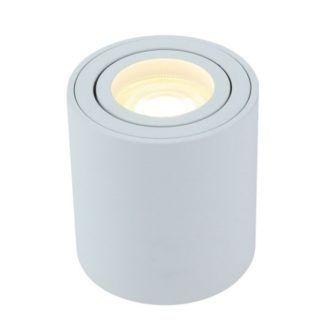 Okrągła lampa sufitowa Mini - biała tuba