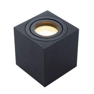 Czarna oprawa świetlna Mini - kwadratowy klosz