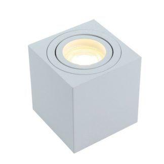 Kwadratowe oczko sufitowe Mini - białe, metalowe