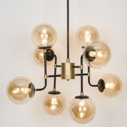 lampa wisząca złota szklane bańki