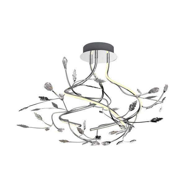 lampa sufitowa metalowe listki