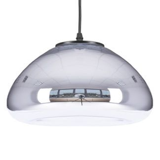 Designerska lampa wisząca Victory Glow - szklana, srebrna
