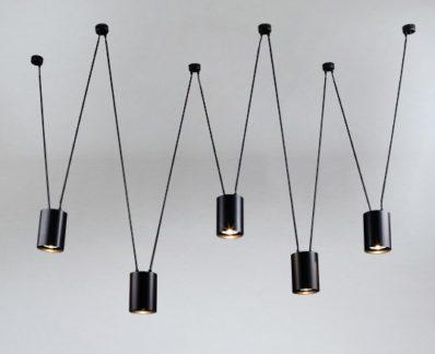 Designerski nowoczesny żyrandol Viwin - czarny