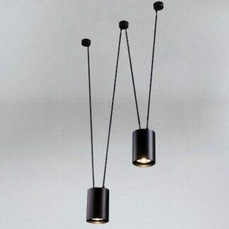 Nowoczesna lampa wisząca  z dwoma kloszami Viwin - czarna