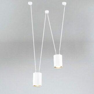 Lampa wisząca z dwoma kloszami Viwin - biała