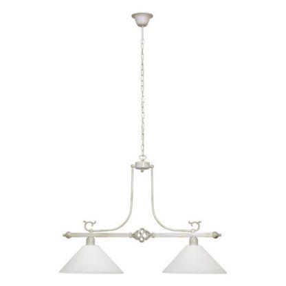 elegancka lampa vintage biel złote przetarcia