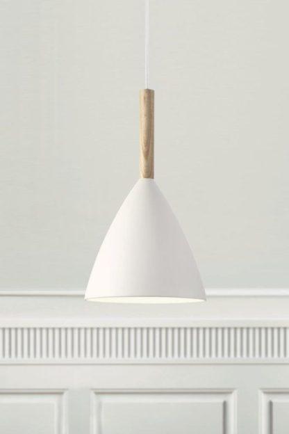 Metalowa lampa wisząca Pure - Nordlux -DFTP - biały klosz