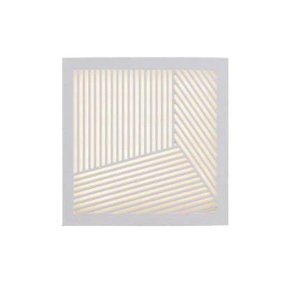Dekoracyjny kinkiet Maze Straight - biały, nowoczesny, IP44