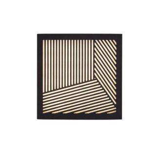 Czarny kinkiet Maze Straight - kwadratowy, LED, IP44
