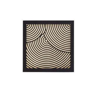 Nowoczesny kinkiet Maze Bended - czarny, LED, IP44