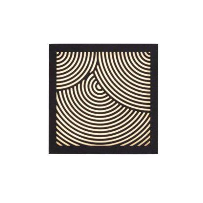 czarny dekoracyjny kinkiet elewacyjny