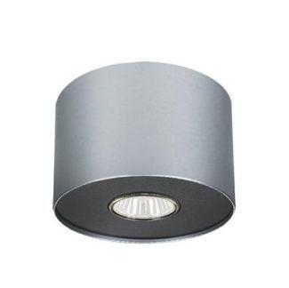 Srebrny spot Point - okrągły, grafitowa oprawa żarówki