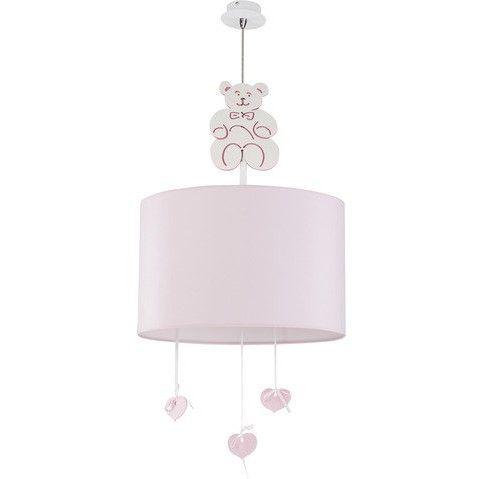 lampa wisząca jasny róż pokój dziecka