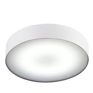 Biały plafon Arena - okrągły, IP44, LED