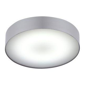 Okrągły plafon Arena - srebrny, IP44, LED