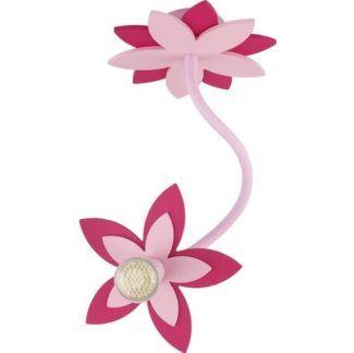 Reflektor Flowers - dziecięcy, różowy kwiatek