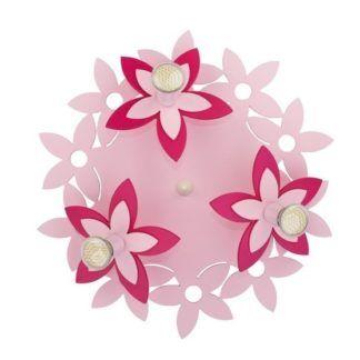 Okrągły plafon Flowers - różowe kwiaty