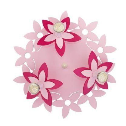 lampa sufitowa różowe kwiatki