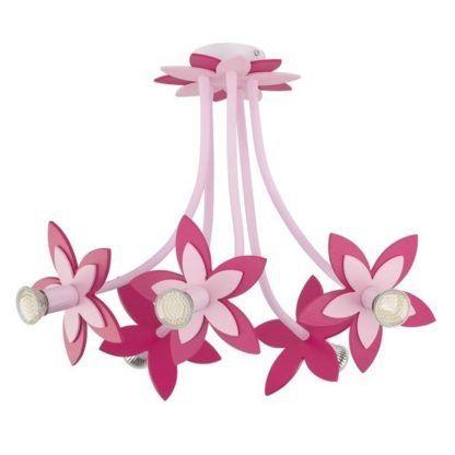 różowy żyrandol do pokoju dziewczynki