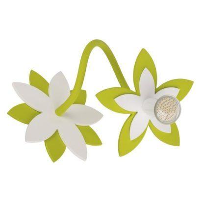 zielony kinkiet kwiatek