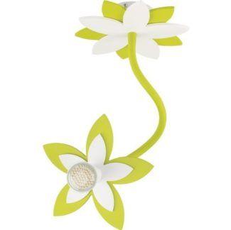 Zielony reflektor Flowers - klosz w kształcie kwiatu