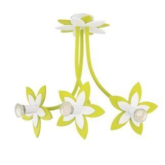 Dziecięcy żyrandol Flowers - 3 klosze, zielony