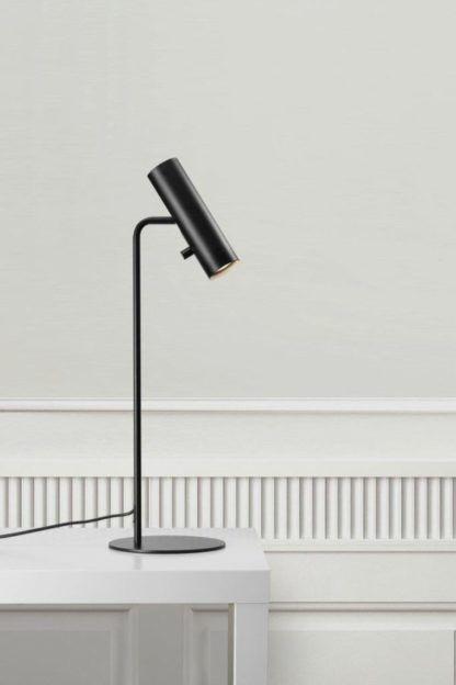 czarna lampa stołowa nowoczesna
