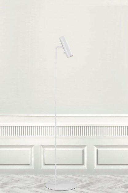 lampa podłogowa biała metalowa