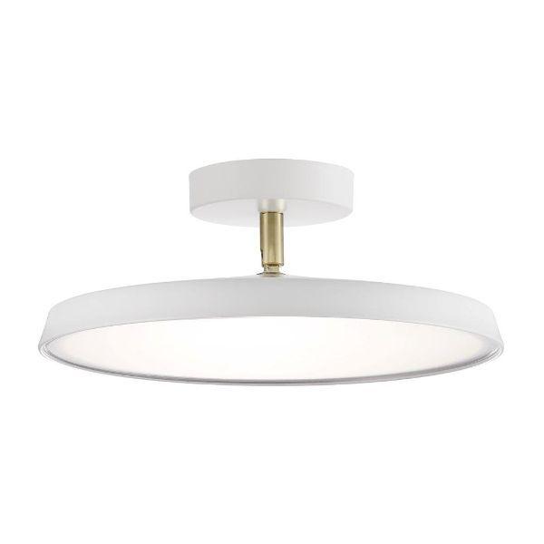 płaska lampa sufitowa biała