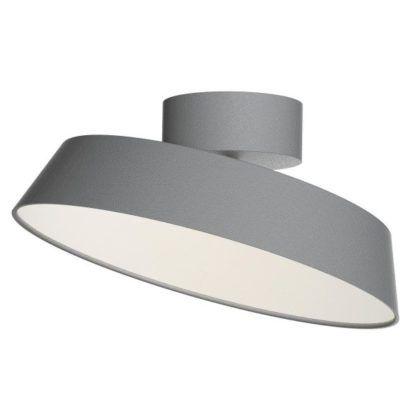 szara lampa sufitowa z regulowanym kloszem