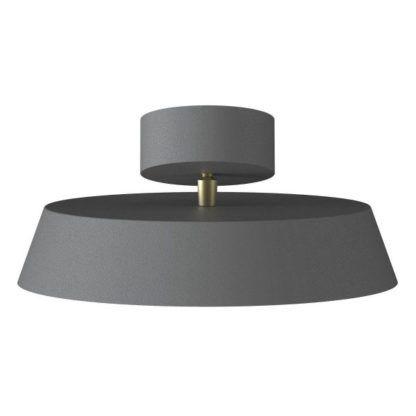 szara nowoczesna lampa sufitowa