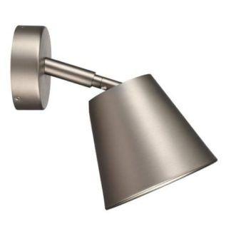 Srebrny kinkiet IP S6 - Nordlux - regulowany klosz, IP44