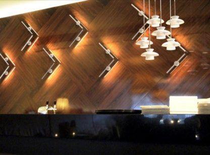 nowoczesne oświetlenie kawiarni aranżacja