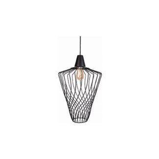 Oryginalna lampa wisząca Wave - czarny, druciany klosz