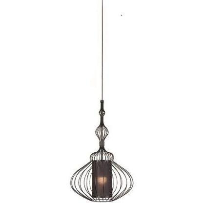 czarna lampa wisząca drut z abażurem