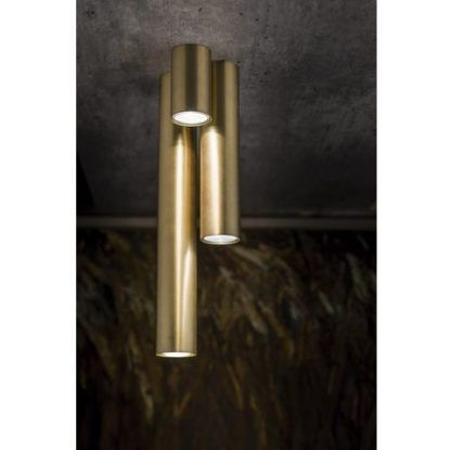 lampa sufitowa złota tuba
