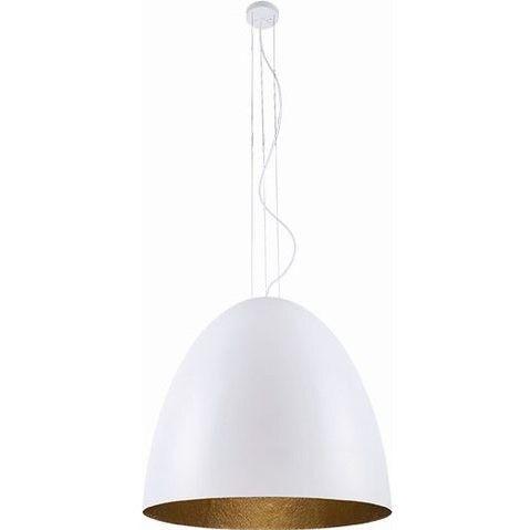 klosz do lampy biały ze złotym środkiem