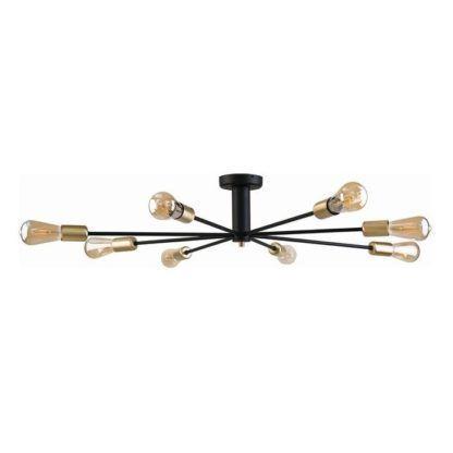 lampa sufitowa złote oprawki na żarówki