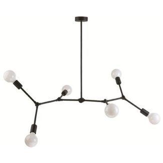 Nowoczesna lampa wisząca Twing - czarna, metalowa