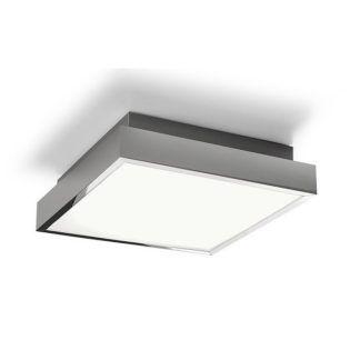 Nowoczesny plafon Bassa - chrom, LED