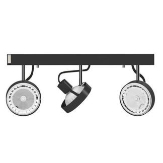 Nowoczesna lampa sufitowa Cross - 3 klosze, czarna