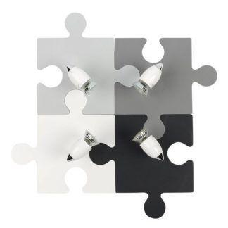 Lampa sufitowa Puzzle - odcienie szarości