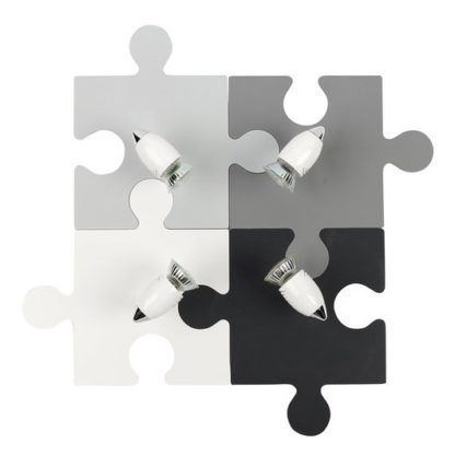 lampa sufitowa puzzle odcienie szarości