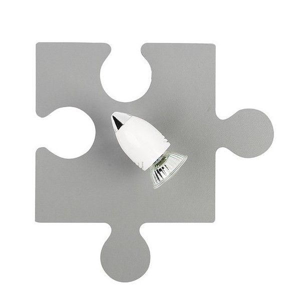Szary kinkiet Puzzle - nowoczesny