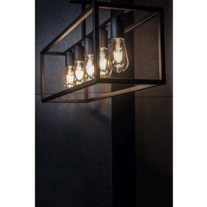 czarna lampa wisząca metalowa oprawa