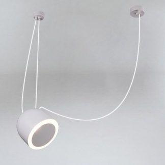 Lampa wisząca z efektownym kloszem Dobo - szara